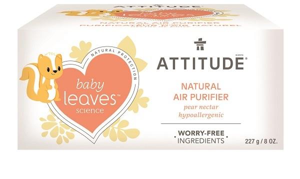 Zobrazit detail výrobku ATTITUDE Přírodní čistící osvěžovač vzduchu BABY LEAVES s vůní hruškové šťávy 227 g
