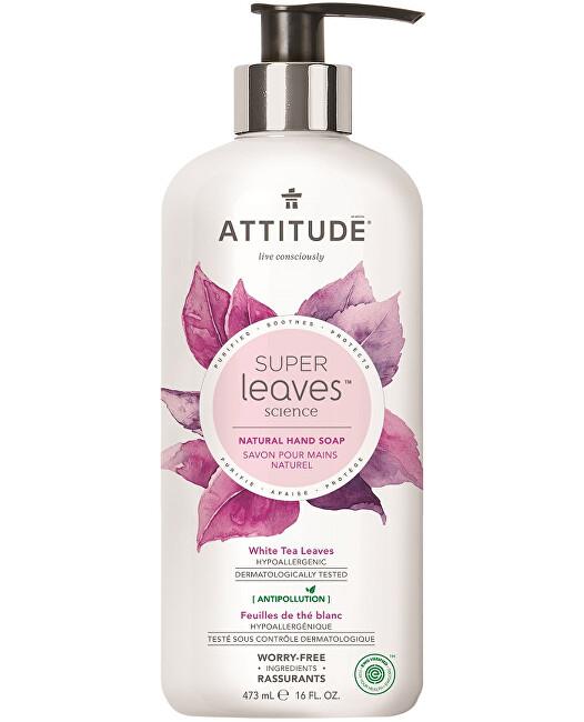 Přírodní mýdlo na ruce Super Leaves s detoxikačním účinkem - čajové listy 473 ml