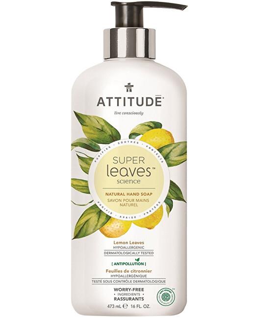 Přírodní mýdlo na ruce Super Leaves s detoxikačním účinkem - citrusové listy 473 ml
