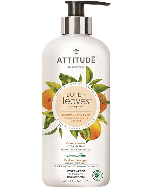 Zobrazit detail výrobku ATTITUDE Přírodní mýdlo na ruce ATTITUDE Super leaves s detoxikačním účinkem - pomerančové listy 473 ml