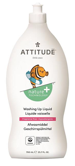 Zobrazit detail výrobku ATTITUDE Nature+ Prostředek na mytí nádobí ATTITUDE pro děti bez vůně 700 ml