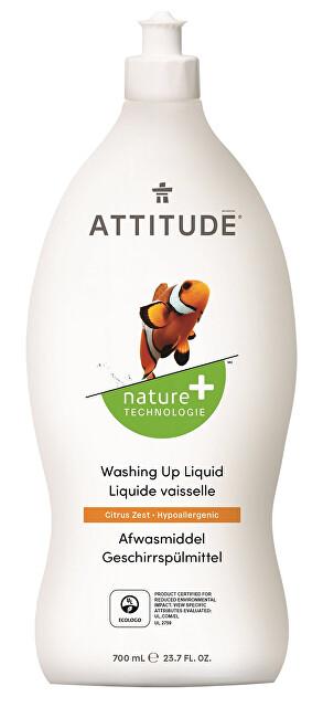 Zobrazit detail výrobku Attitude Prostředek na mytí nádobí Nature+ s vůní citronové kůry 700 ml
