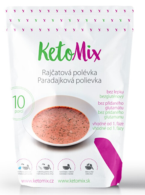 Zobrazit detail výrobku KetoMix Proteinová polévka 300 g (10 porcí) - rajčatová