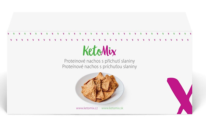 Zobrazit detail výrobku KetoMix Proteinové nachos slanina 120 g