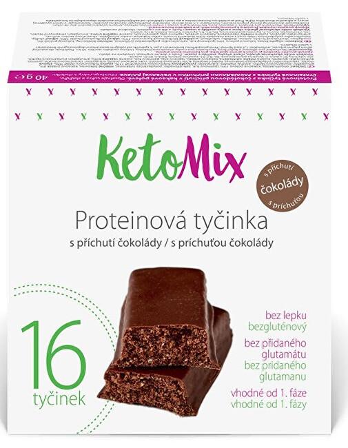 Proteinové tyčinky s příchutí čokolády 16 x 40 g