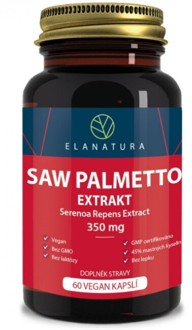 Elanatura Saw Palmetto - extract 330 mg - 60 kapslí