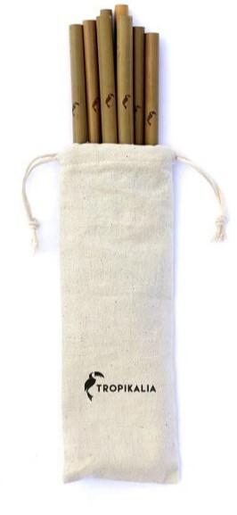 Zobrazit detail výrobku Tropikalia Set 8 bambusových brček s kartáčkem a obalem