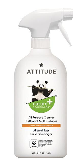 Zobrazit detail výrobku Attitude Univerzální čistič Nature+ s vůní citronové kůry s rozprašovačem 800 ml