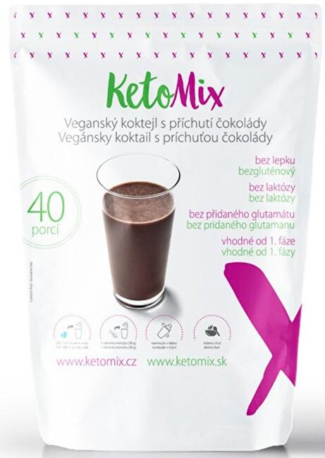 Zobrazit detail výrobku KetoMix Veganský (bezlaktózový koktejl) koktejl s příchutí čokolády 1200 g (40 porcí)