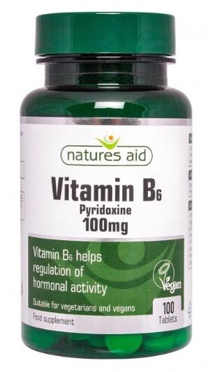 Zobrazit detail výrobku Natures Aid Vitamín B6 -  100 mg (pyridoxin) 100 tablet