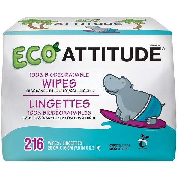 Zobrazit detail výrobku Attitude Hypoalergenní a eko vlhčené ubrousky bez vůně - výhodné balení 3 x 72 ks 216 ks