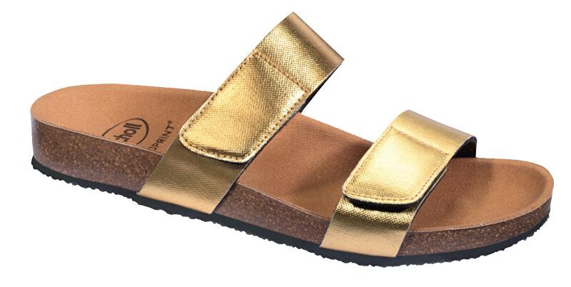 Zobrazit detail výrobku Scholl Zdravotní obuv - GREENY 2 STRAPS - Gold 39