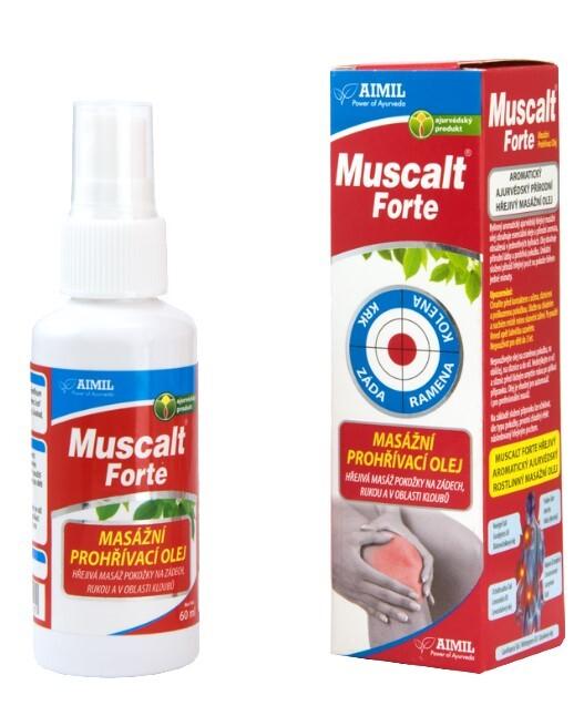 Zobrazit detail výrobku Aimil Muscalt Forte masážní prohřívací olej 60 ml