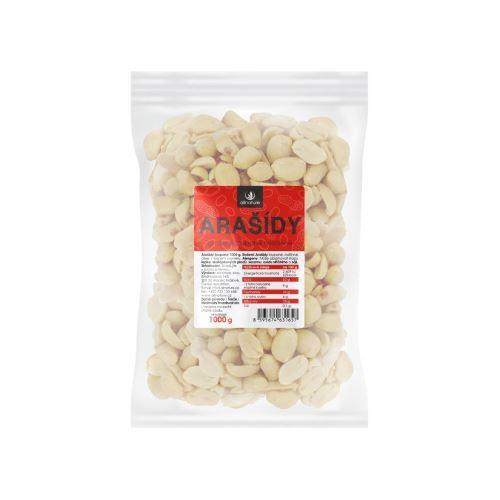 Zobrazit detail výrobku Allnature Arašídy loupané pražené nesolené 1000 g