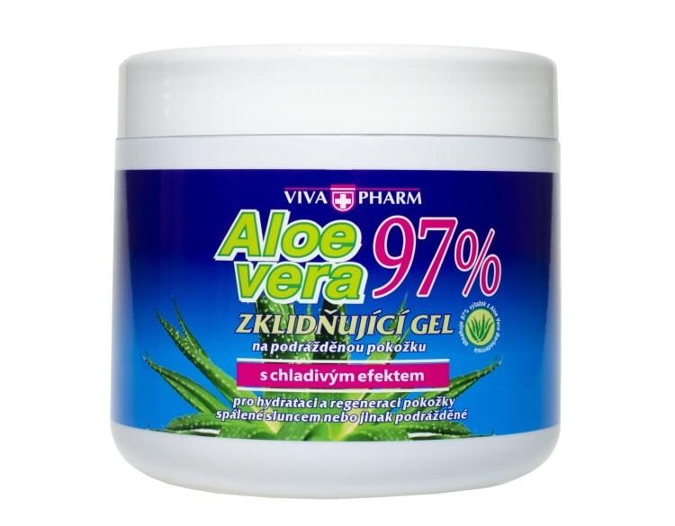 Zobrazit detail výrobku Vivapharm Aloe Vera zklidňující gel s 97% aloe v doze 600 ml