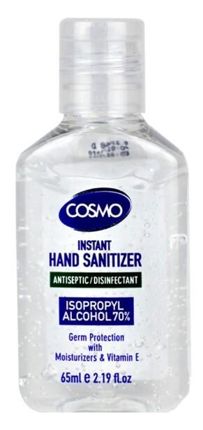 Zobrazit detail výrobku Cosmo Dezinfekční gel na ruce s antibakteriální přísadou 65 ml