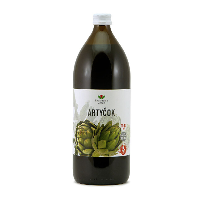 Zobrazit detail výrobku EkoMedica Czech Artyčok – 99,8 % šťáva z artyčoku 1000 ml