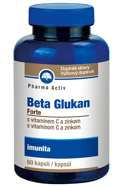 Zobrazit detail výrobku Pharma Activ Beta Glukan Forte, 60 kapslí
