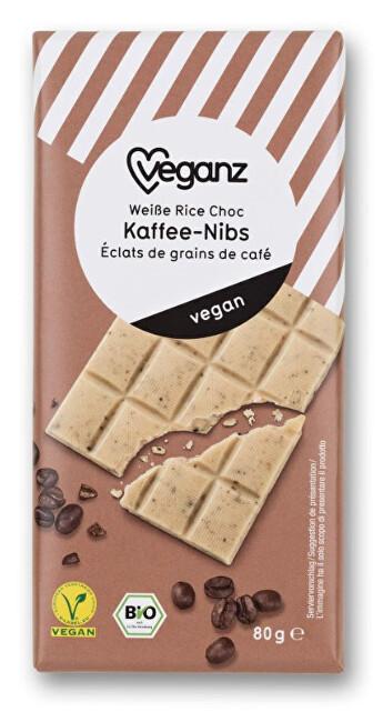 Zobrazit detail výrobku Veganz Bílá čokoláda s kávovými zrnky, Bio 80 g