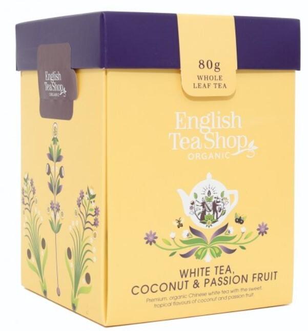 Zobrazit detail výrobku English Tea Shop Bílý čaj, kokos, passion fruit sypaný