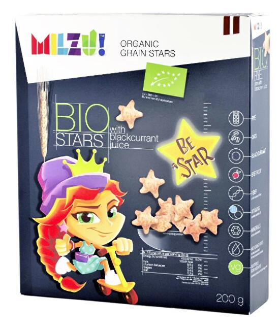 Zobrazit detail výrobku Milzu! BIO Cereální hvězdičky se šťávou z černého rybízu 200 g