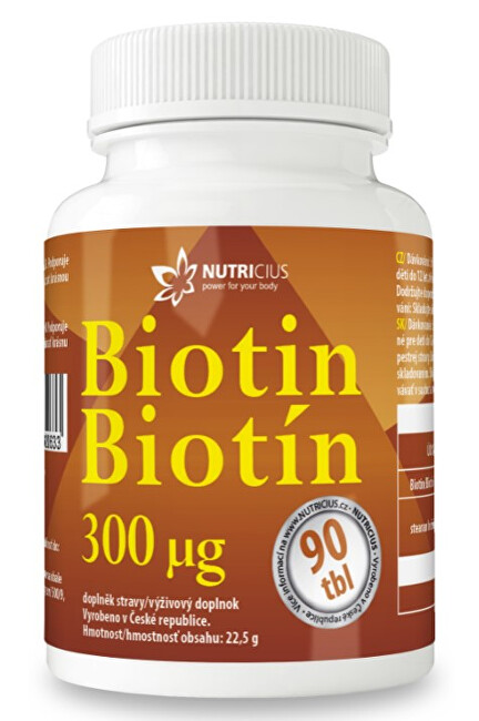 Zobrazit detail výrobku Nutricius Biotin 300 mcg 90 tablet