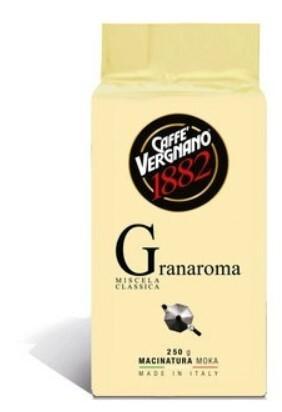 Káva mletá Vergnano Granaroma 250 g vacuum