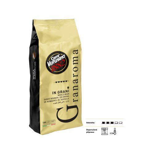 Zobrazit detail výrobku CASA DEL CAFE VERGNANO Káva zrnková Vergnano Granaroma 1 kg