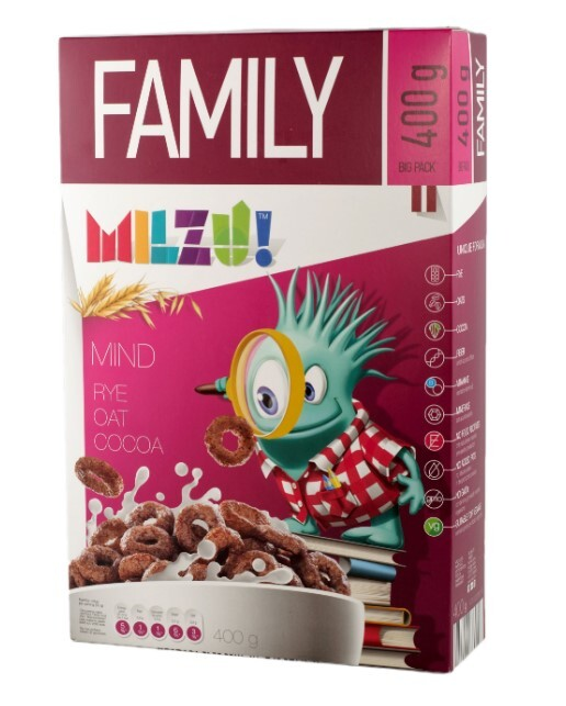 Zobrazit detail výrobku Milzu! Cereální kroužky s kakaem 400 g