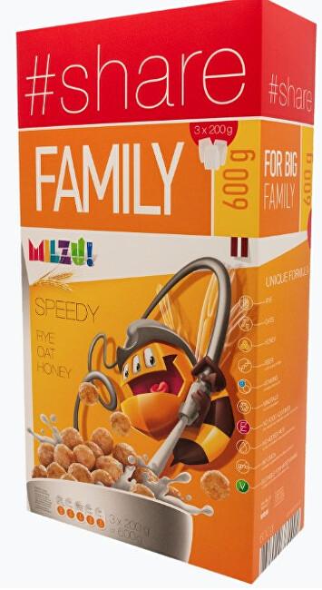 Zobrazit detail výrobku Milzu! Cereální kuličky s medem 600 g