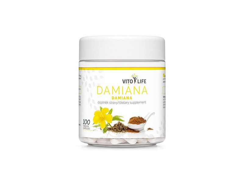 Zobrazit detail výrobku Vito life Damiána 400 mg (extrakt 10:1), 100 tobolek