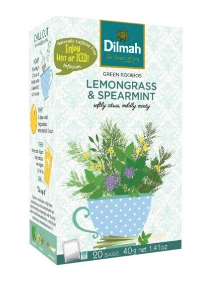 Zobrazit detail výrobku Dilmah Green Rooibos Lemongrass & spearmint 20 x 2g