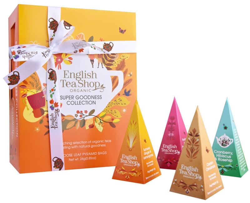 Dárková kolekce SUPER GOODNESS, 12 pyramidek sypaných čajů