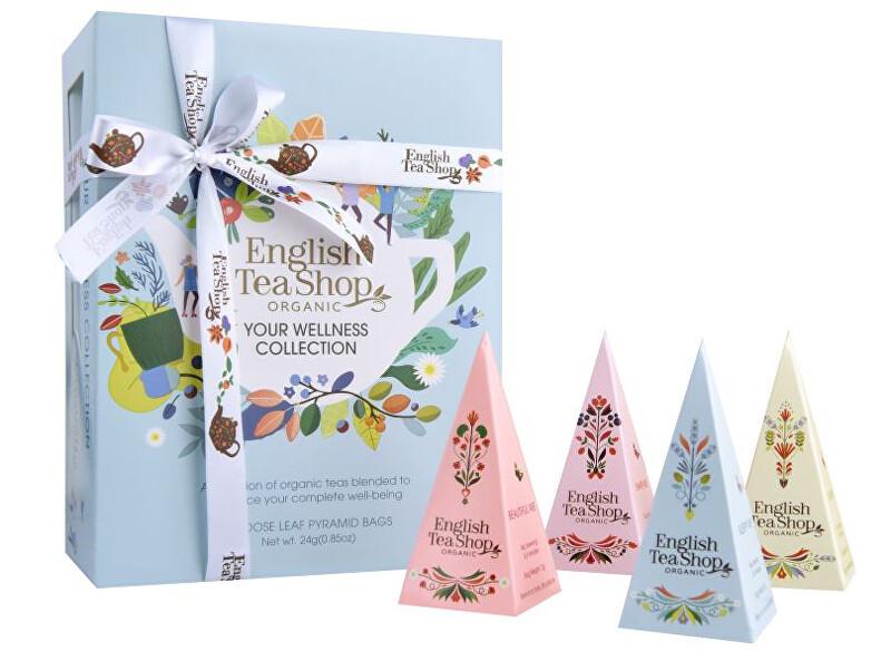 English Tea Shop Dárková kolekce YOUR WELLNESS, 12 pyramidek sypaných čajů
