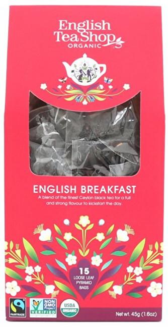English Tea Shop Černý čaj English breakfast 15 pyramidek sypaného čaje