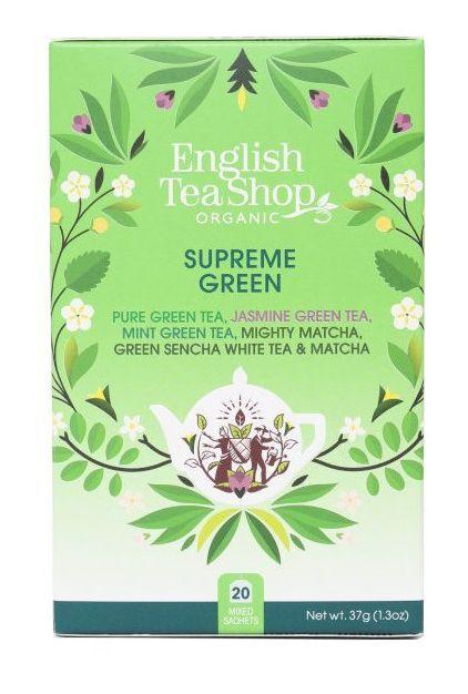 Zobrazit detail výrobku English Tea Shop MIX vrcholně zelených čajů, BIO 20 sáčků