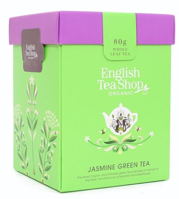 Zobrazit detail výrobku English Tea Shop Zelený čaj s jasmínem sypaný bio 80 g