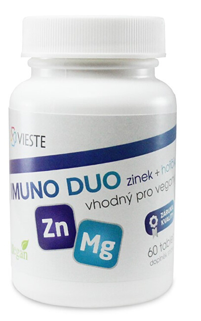Zobrazit detail výrobku Vieste Imuno Duo zinek + hořčík 60 tablet