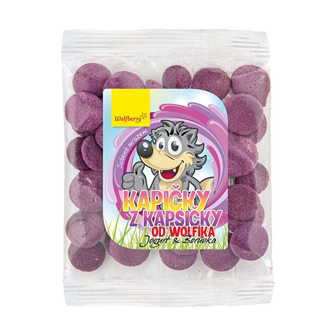 Zobrazit detail výrobku Wolfberry Kapičky z kapsičky od Wolfíka-jogurt - borůvka 17 g