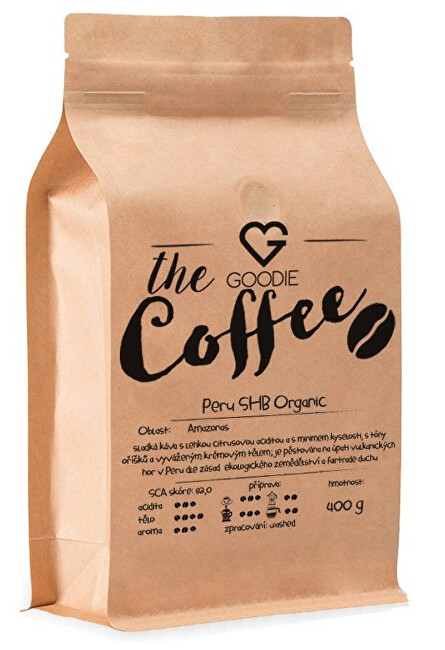 Káva zrnková - Peru SHB Organic 400 g