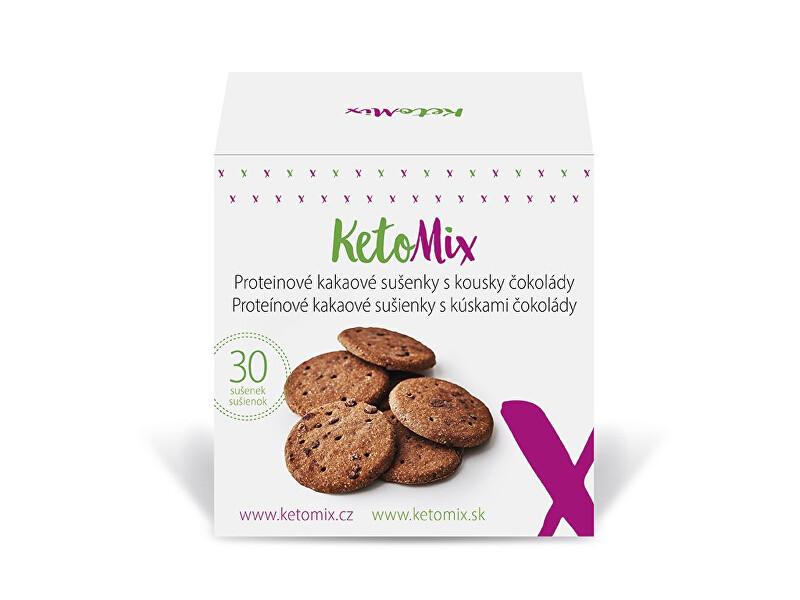 Zobrazit detail výrobku KetoMix Proteinové kakaové sušenky s kousky čokolády (30 sušenek)