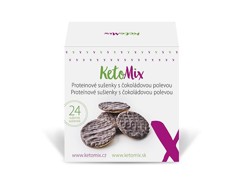 Proteinové sušenky s čokoládovou polevou (24 sušenek)