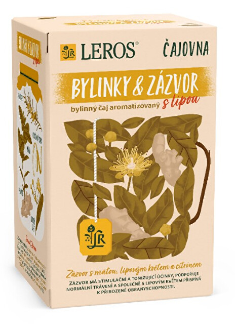 Zobrazit detail výrobku LEROS Čajovna Bylinky a Zázvor s lípou 20 x 2 g