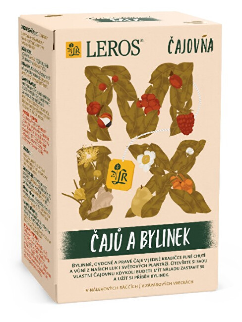Zobrazit detail výrobku LEROS Čajovna Mix čajů a bylinek 20 x 2 g