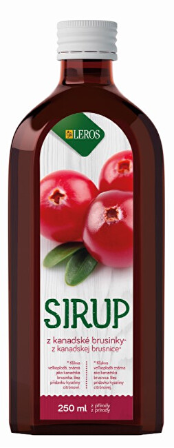 Zobrazit detail výrobku LEROS Sirup Brusinka 250 ml