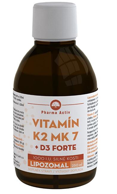 Zobrazit detail výrobku Pharma Activ LIPOZOMAL Vitamín K2 MK7 + D3 1000 I.U. 250 ml