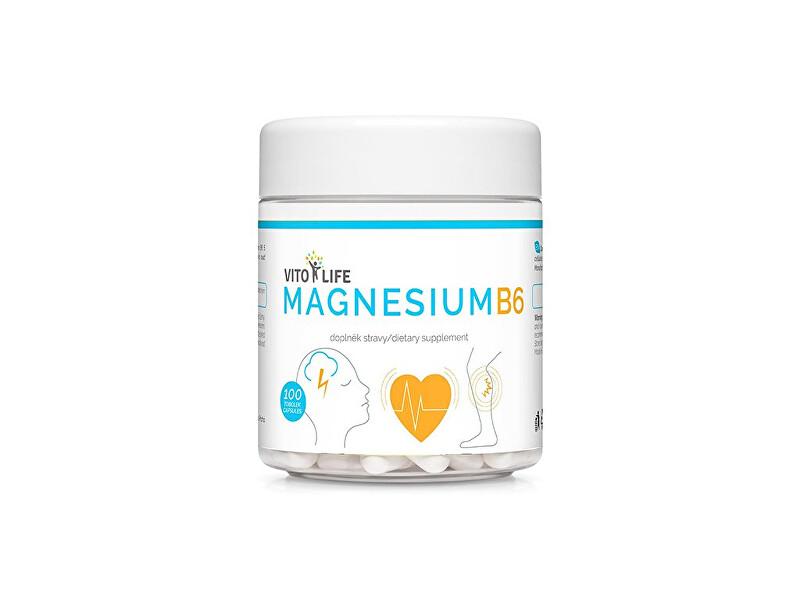 Zobrazit detail výrobku Vito life Magnesium citrát + vitamín B6 100 tobolek