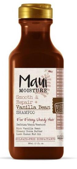 MAUI vyhlazující šampon pro kudrnaté vlasy + Vanil.lusky 385 ml