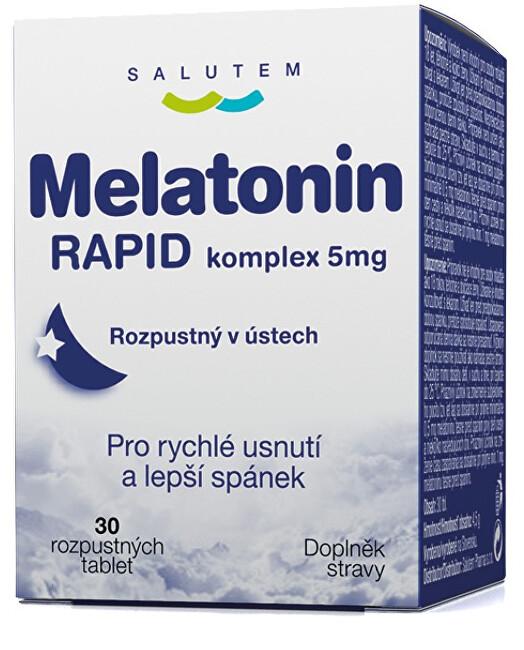 Zobrazit detail výrobku SALUTEM Pharma Melatonin Rapid komplex 5 mg 30 tablet