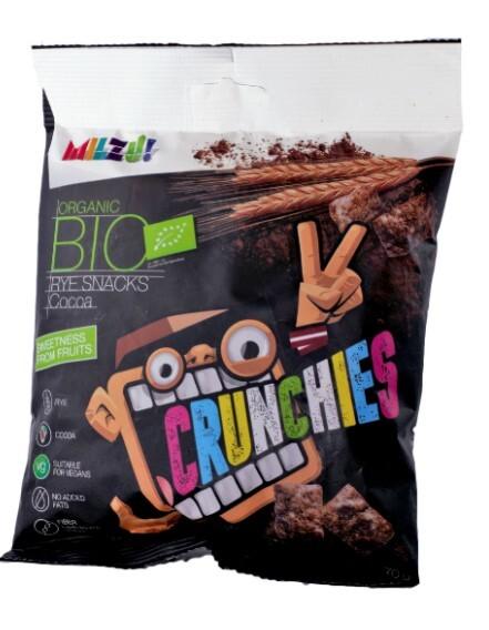 Zobrazit detail výrobku Milzu! BIO Křupavý snack - obdélníčky s kakaem 70 g